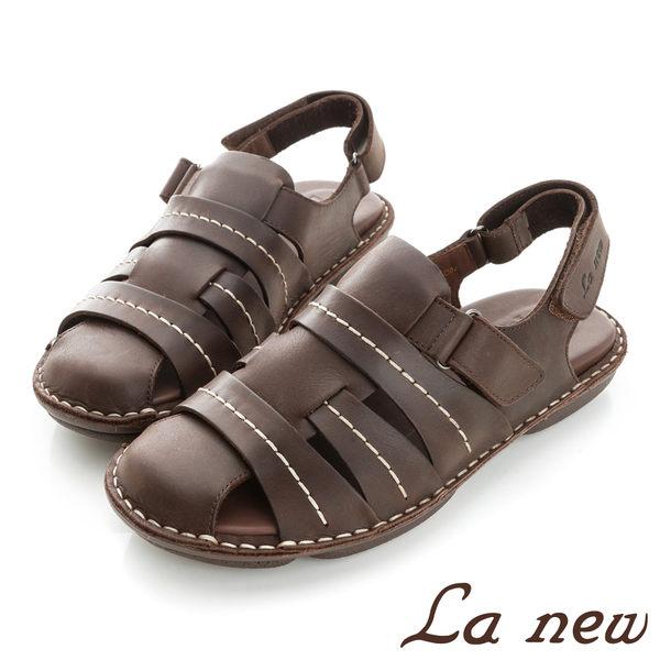 【La new outlet】雙密度PU氣墊涼鞋 (男221055224)