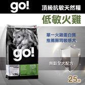 【毛麻吉寵物舖】Go! 低致敏火雞肉無穀全犬配方 (25磅) 狗飼料/WDJ推薦/狗糧