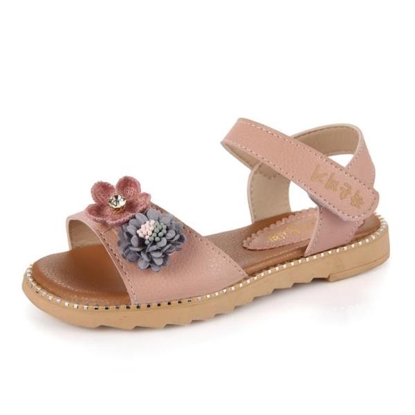女童涼鞋 女童涼鞋童鞋夏季中大童公主鞋兒童沙灘鞋平底小學生鞋子