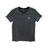 【台中米蘭站】全新品 經典 KARL K/KOCKTAIL系列老佛爺圖騰棉質條紋短袖T恤 (黑)
