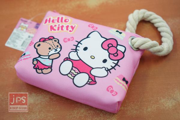 Hello Kitty Cute屁屁系列 大布筆袋 筆袋 粉