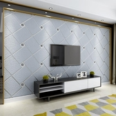 電視背景墻客廳電視背景墻壁紙現代簡約3D立體歐式墻紙無紡布臥室墻紙壁紙   汪喵百貨