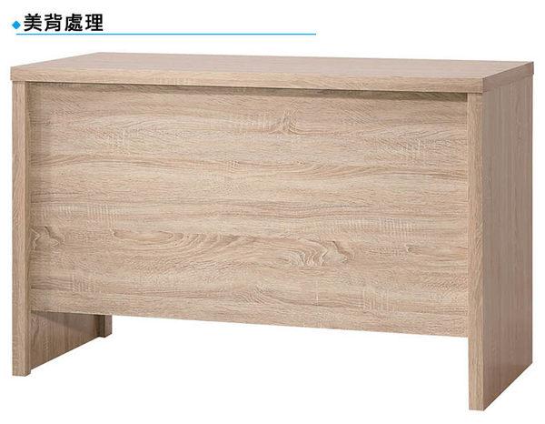 【森可家居】安迪橡木紋4尺書桌 8SB231-1 辦公桌 木紋質感 無印北歐風 MIT台灣製造