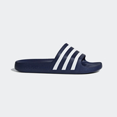 Adidas Adilette AQUA [F35542] 男女 涼鞋 拖鞋 運動 休閒 海灘 游泳 戲水 愛迪達 深藍
