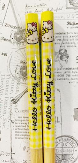 【震撼精品百貨】Hello Kitty 凱蒂貓~三麗鷗 kitty 日本竹筷/筷子(21CM)-家族成員/凱蒂貓黃#92261