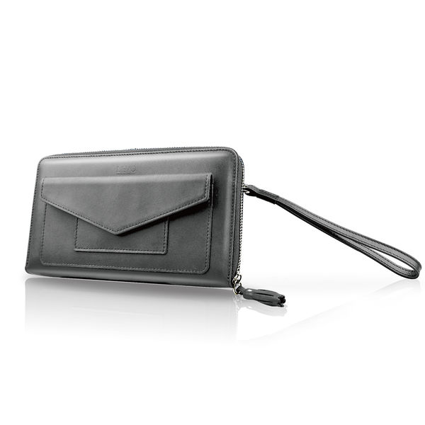 【LIEVO】 STORY - 旅行手機皮夾_霧墨灰(iPhone 6S Plus / Note5 / Z5 / 5.7吋螢幕以下手機皆適用) 情人節禮物