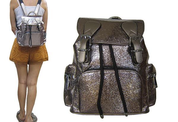 ~雪黛屋~COUNT 後背包小容量主袋+外袋共五層進口防水牛皮革材質休閒隨身物品BCD50004301300
