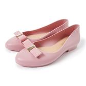 Petite Jolie 可愛小結飾果凍娃娃鞋-粉紅