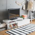 電視系統櫃 電視櫃【I0040】空間創意伸縮式多功能電視櫃 優雅白  完美主義