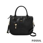FOSSIL RYDER 真皮圓弧仕女側背包-黑色