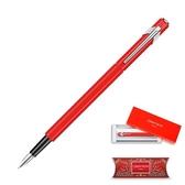 849 鋼筆, 紅, M(2018 限定版)【瑞士卡達 CARAN D' ACHE】
