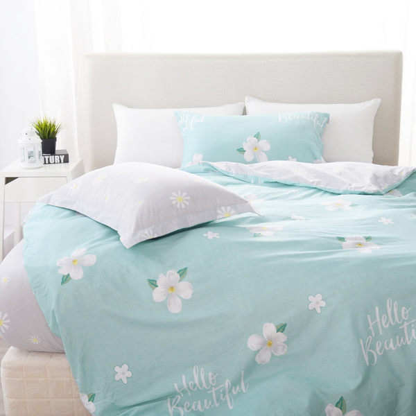 【03916】【夢工場】繽紛花朵薄床包被套組-- 雙人尺寸 含枕頭套、被套(二組以上限宅配)