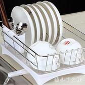置物架 304不銹鋼瀝水架碗碟架洗碗池瀝水籃廚房盤子收納晾放碗架 df2707【潘小丫女鞋】