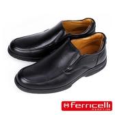 【ferricelli】Freelander神行者男仕休閒皮鞋  黑色(F51600-BL)