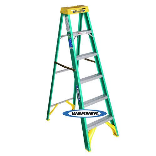 美國Werner穩耐絕緣梯-5906AS玻璃鋼單側人字梯(梯長1.8m)    FRP梯 梯子 進口梯