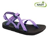 NAOT 女 夾腳型越野運動涼鞋 SHORE 38504X52【紫三角】/ 城市綠洲 (織帶、輕量、快乾、抑菌)