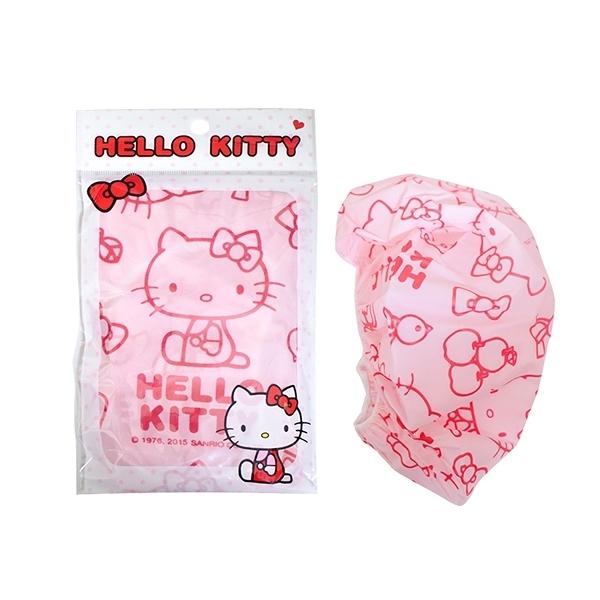 SANRIO 三麗鷗 Hello Kitty浴帽(紅/粉)1入 【小三美日】顏色隨機出貨