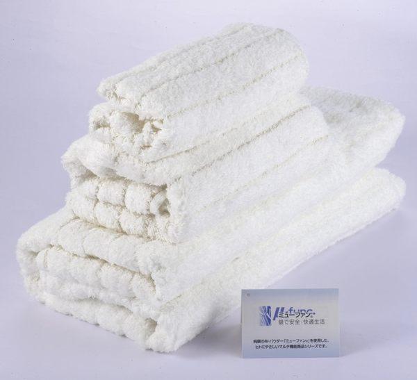 日本製今治+mju-func®妙屋房銀纖維抗菌.防臭毛巾/柔白FTM中34X80CM