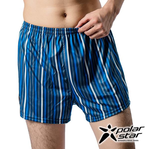 PolarStar 男 格紋排汗快乾四角內褲『灰藍』 P14333 舒適│清爽│透氣│居家內褲