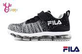 FILA 中大童 運動鞋 個性織布 機能鞋 輕量慢跑鞋 O7692#黑灰◆OSOME奧森童鞋