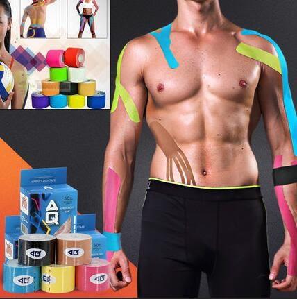 肌肉肌貼 肌肉貼 運動膠帶 運動防護 彈力運動貼布 健身 網球 羽球 籃球炫彩貼布