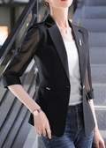 薄款小西裝外套女休閒2020春夏季新款大碼修身顯瘦七分袖防曬衣女 雙11提前購