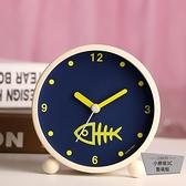 可愛金屬鬧鐘夜燈時尚數字學生床頭鬧鐘臥室【小檸檬3C】