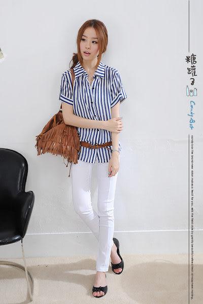 造型假口袋車線順身縮腰長褲→現貨【KK1862】