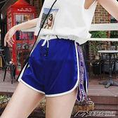 運動短褲休閒百搭高腰短褲ins超火的運動熱褲女寬鬆顯瘦港味褲子  潮流前線
