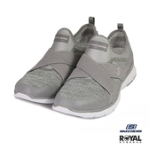 Skechers 新竹皇家 Finest Hour 灰色 織布 繃帶 套入 休閒運動鞋 女款 NO.I9353