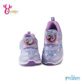 冰雪奇緣2兒童運動鞋 女童慢跑鞋 LED電燈鞋 ELSA艾莎安娜迪士尼 MIT台灣製 Frozen G8153#紫色◆奧森