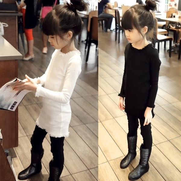 韓版《氣質蕾絲款》長版 長袖上衣