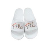 FILA男女款米白色草寫logo拖鞋-NO.4S326U117