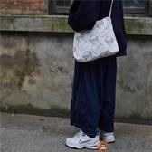 帆布收納袋復古韓版森系學生側背包單肩包女【淘夢屋】
