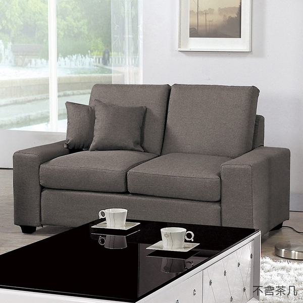 【森可家居】布萊恩沙發雙人椅 8CM699-3 二人座位 布沙發 可拆洗