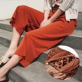 夏季九分原宿韓版學生闊腿褲女寬鬆大碼高腰bf風休閒七分褲子 艾維朵