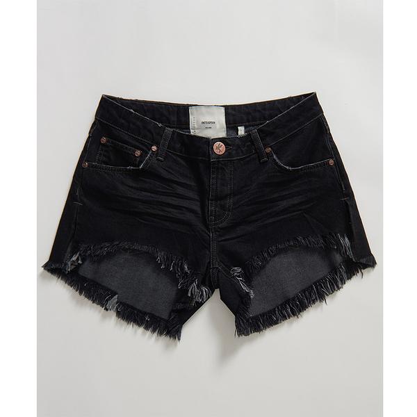 ONETEASPOON  WW  RAVEN MARLONS LOW WAIST BOYFRIEND SHORT  牛仔短褲-(女)