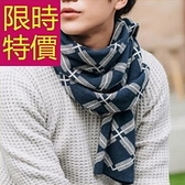 針織圍巾-羊毛明星款禦寒保暖防寒男女圍脖3色61y12[巴黎精品]