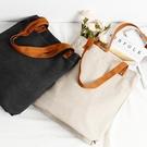 帆布袋印字logo女側背學生帆布包手提袋購物袋空白棉布袋 聖誕交換禮物