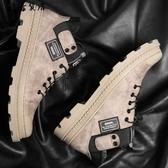 男款高筒鞋韓版潮流2018新款加絨中筒AJ1冬季馬丁靴鞋子潮牌男鞋