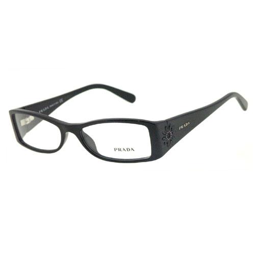 【PRADA】 時尚光學眼鏡(黑色)(無附盒)