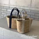 新款韓國ins草編手提包海邊度假沙灘包手工編織小包包女 黛尼時尚精品