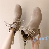 短靴 短靴女靴子秋冬季2019新款百搭馬丁靴英倫風粗跟高跟鞋加絨女鞋 星隕閣