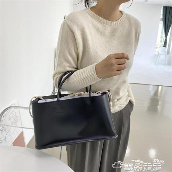 托特包小眾設計包包女2021春新款大容量ins網紅韓版簡約時尚托特手提包 雲朵走走