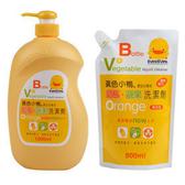 黃色小鴨奶瓶蔬果洗潔劑 組1 罐1 包