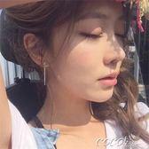 耳環 s925純銀韓國耳釘耳環長款夸張個性氣質流蘇不對稱耳墜女款   coco衣巷