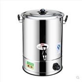 商用不銹鋼電熱開水桶大容量全自動燒水桶保溫桶奶茶桶涼茶熱水桶 後街五號
