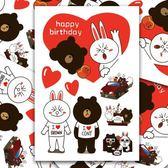 布朗熊與可妮兔卡通拉桿箱貼畫卡通筆記本吉他旅行箱死飛滑板貼紙【韓衣舎】