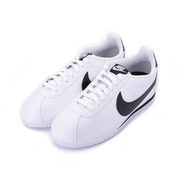 NIKE CLASSIC CORTEZ LEATHER 阿甘鞋 白黑 807471-101 男鞋 鞋全家福