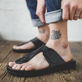 男士涼鞋男士人字拖涼鞋2019新款夏潮男外穿拖鞋防滑沙灘鞋時尚軟底涼拖 晴天時尚館